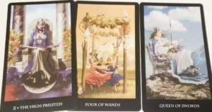 3 karty tarota - jak odczytać rozkład 1